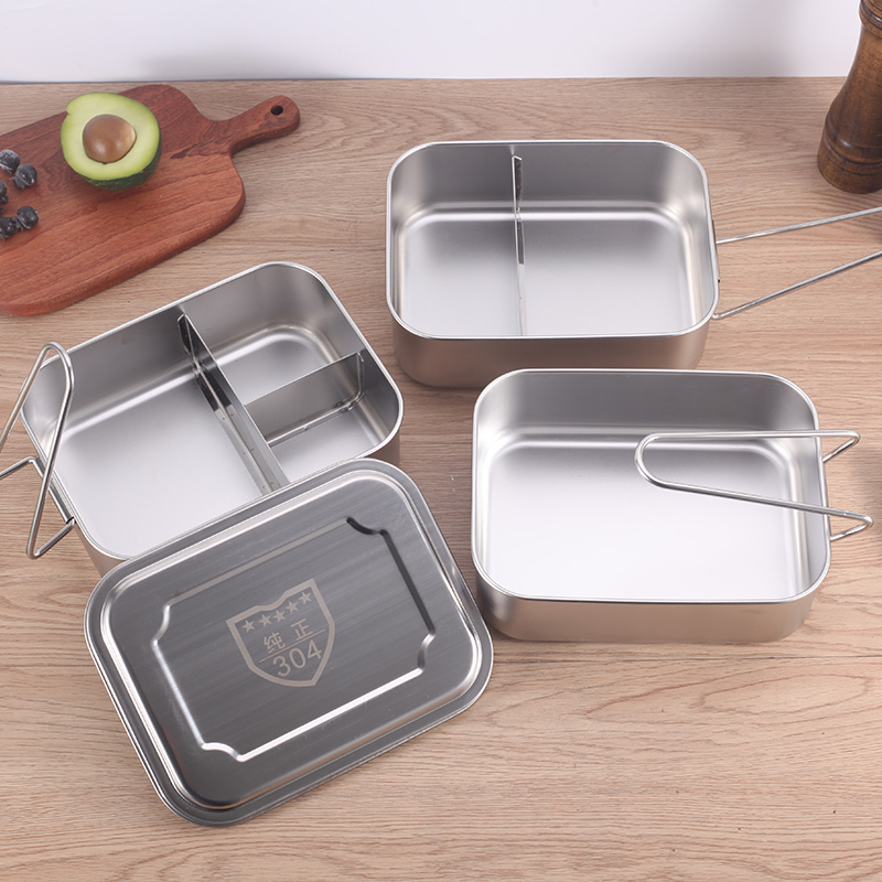 Hitomi 304 Stainless Steel Lunch Box Bamboo Lid Stackable Leakproof 3 Layer 3Layers India Food