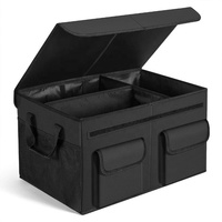 Car Trunk Storage Box With Lid And Handle Car Trunk Organizer