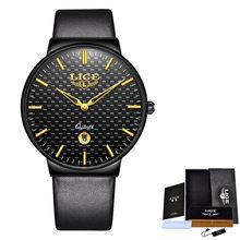 LIGE новые мужские часы лучший бренд простые кожаные водонепроницаемые спортивные часы Автоматические кварцевые часы для мужчин s Relogio Masculino(Китай)
