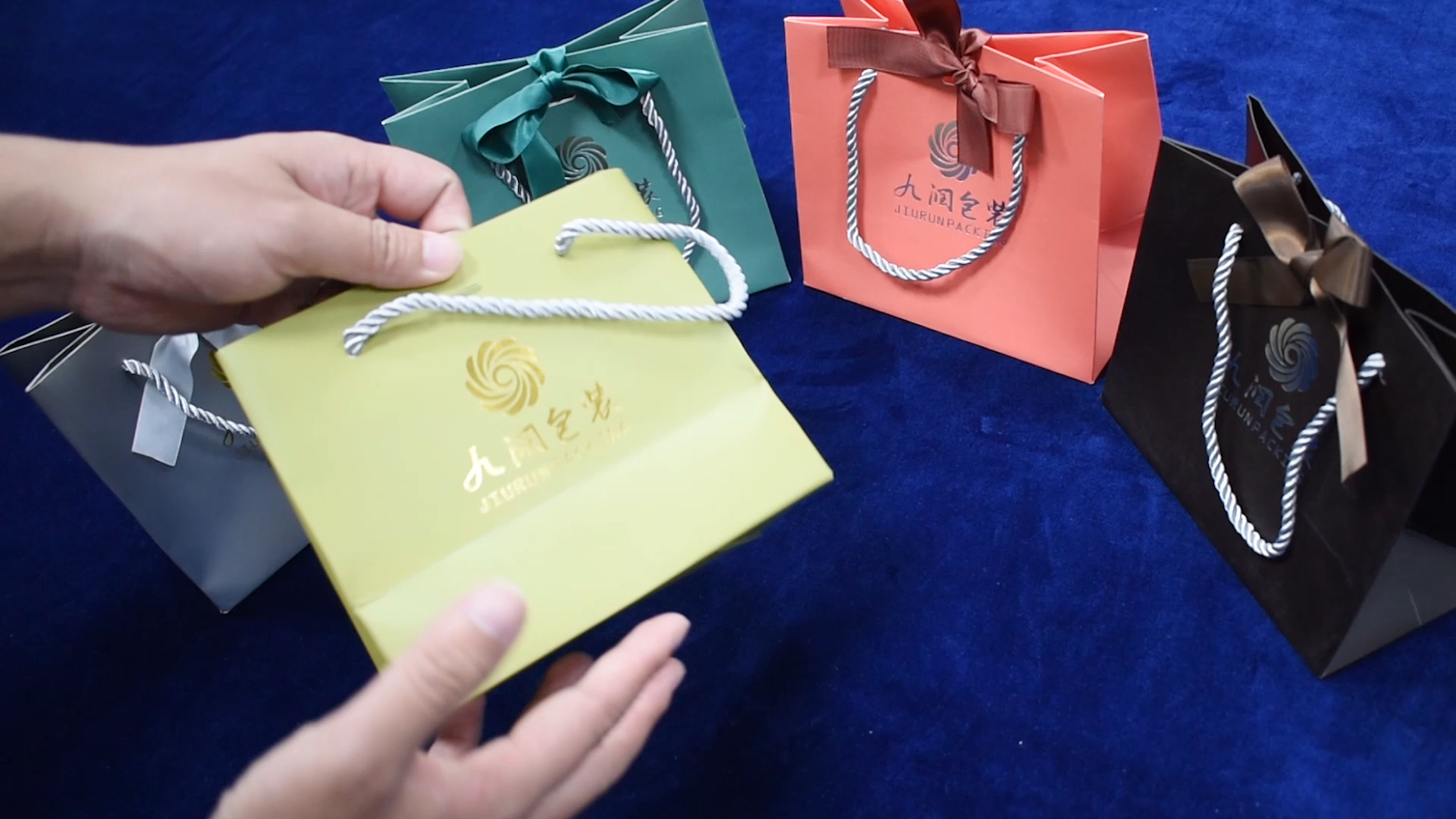 Manufacturer Low Cost Cardboard Paper Bag with Ribbon Handle Cheap Kraft Paper Bag