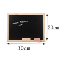 factory direct sale erasable wooden frame customized MDF black boards supplier