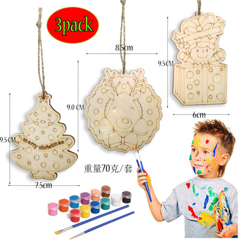 Ywbeyond Diy Wood Decorations for Kids Wooden Diy Painting Christmas Party Decora Crafts