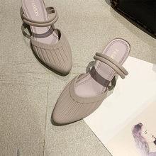 2020 г., летние женские босоножки женская повседневная обувь с острым носком элегантная женская прозрачная обувь на танкетке модные женские ш...(Китай)