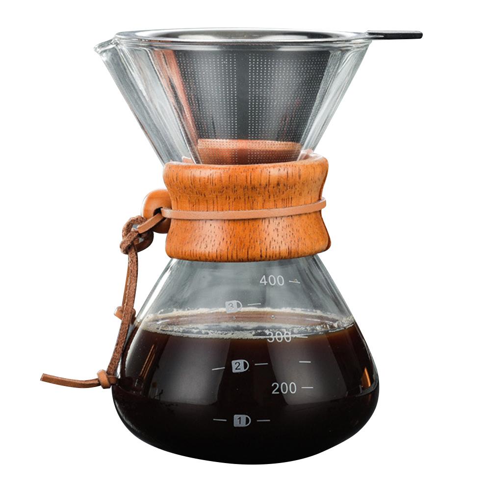 Налейте кофе с помощью Боросиликатного Стекла Ручной капельницы для кофе(Китай)
