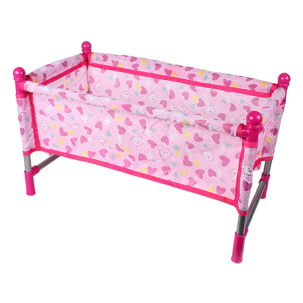 Picture of: Pink Rocking Bed For Dolls Baby Doll Crib Toy Furniture And Play House Accessories Fits 9 12inch Reborn Dolls Dolls Aliexpress