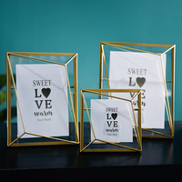 Hot Selling Modern Style custom Gift Gold Brushed Luxury Decoration Home Metal Photo Frame
