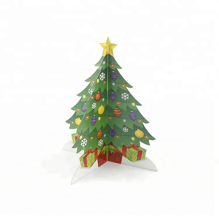 Kids Fun Gift Opvouwbare Decoratieve Kerstboom Ornament Decoratie Pop Up Papier Mini Kerstboom