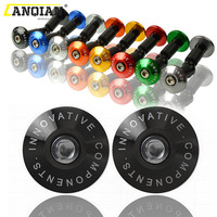 1 Pair Motorcycle Handlebar Grip Plugs Bar End Caps 22mm 7/8 CNC Aluminum alloy Handle Grip End Stoppers 5Colors