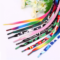 Hot Sale Custom logo Shoe Laces printed shoelaces Flat Polyester Shoelaces