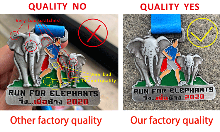Custom zinc alloy dye black plated enamel 21k marathon finisher challenge medal
