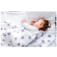 Custom print natural baby swaddle cotton muslin swaddle blanket for new born baby