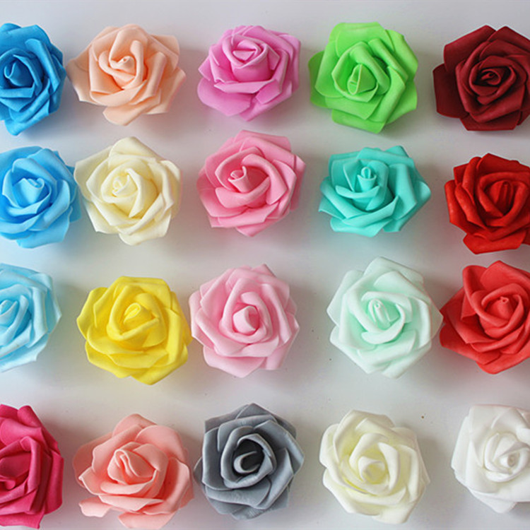 M341 Wholesale 100PCS Per Pack Foam Flower Artifical PE Foam <strong>Rose</strong> <strong>Heads</strong> For DIY Wedding Party Decoration