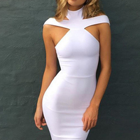 CA0622A 2020 new arrivals trending clothes for women white summer dress backless midi casual dresses