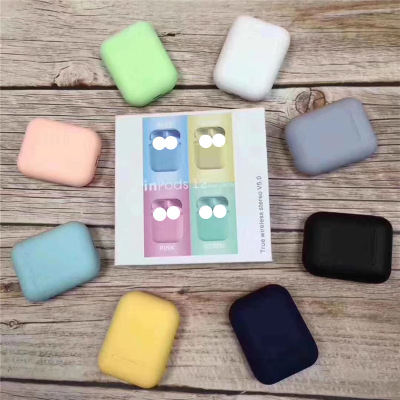high quality earphone Macaron Bluetooth 5.0 inpods 12 TWS bluetooth earphone headphone for iphone x 8 For All Type Phones Auto