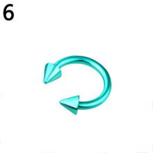 3 мм/1,2 мм C зажим для пирсинга в форме подковы фальшивый нос средней длины обруч Красочные для пирсинга, из хирургической стали украшения для...(Китай)