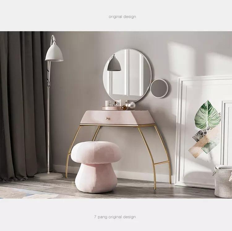 Bedroom home modern minimalist European style wrought iron frame dresser