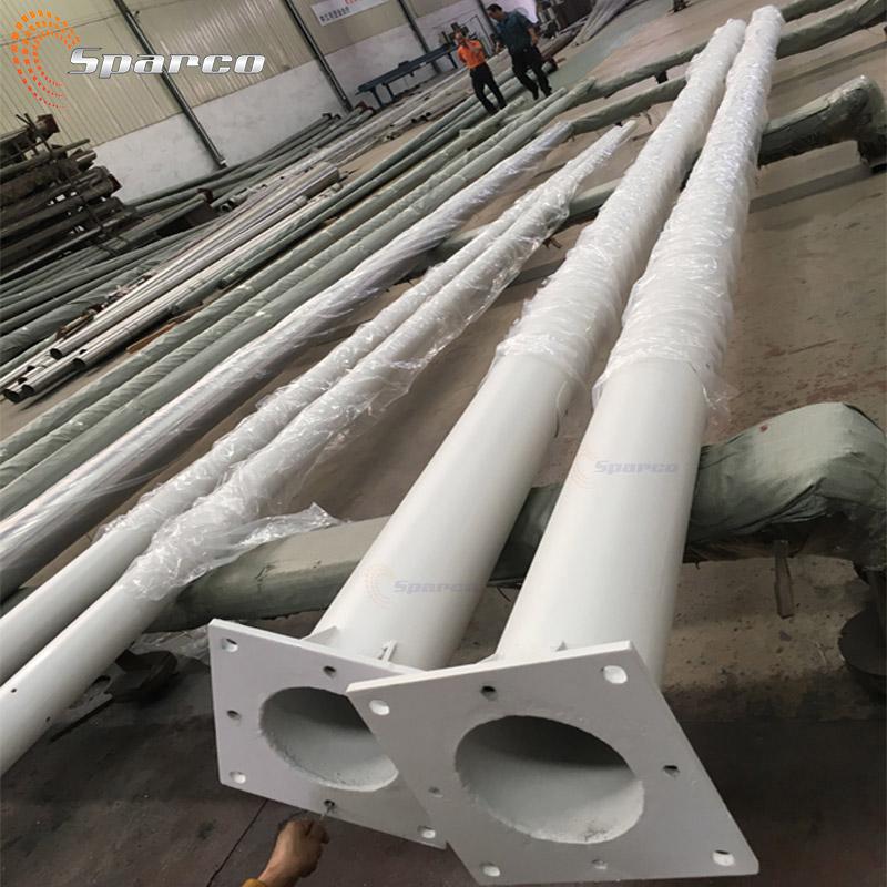 6M 8M 10M 12M Aluminum/Stainless steel/Galvanized Steel outdoor lamp post bespoke tapered street lighting pole light pole