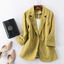 Женский блейзер DEAT, однотонный пиджак свободного кроя с длинными рукавами, 4 цвета, весна-осень 2020, 13T077(Китай)