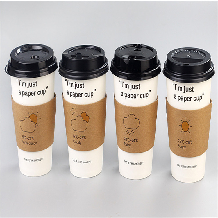 9oz custom100% Biodegradable Disposable PLA Coated Coffee Paper Cup