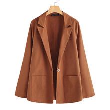 ZANZEA женский плотный пиджак, весна 2020, Повседневный, с длинным рукавом, однотонный, офисный, для работы, с отложным воротником(Китай)
