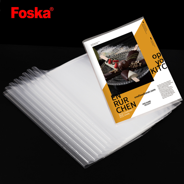 Foska 학교 클리어 소프트 투명 PP 운동 책 커버