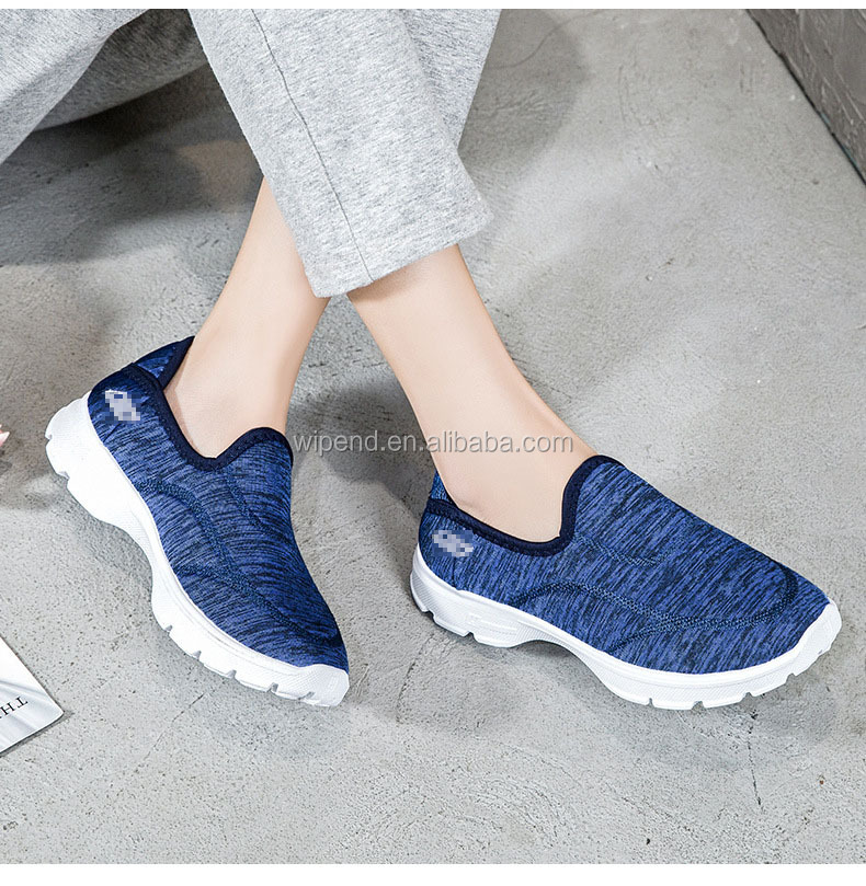 Factory Directly Sell Non-slip breathable Men slip on shoes Lightweight None Lace slip on shoes