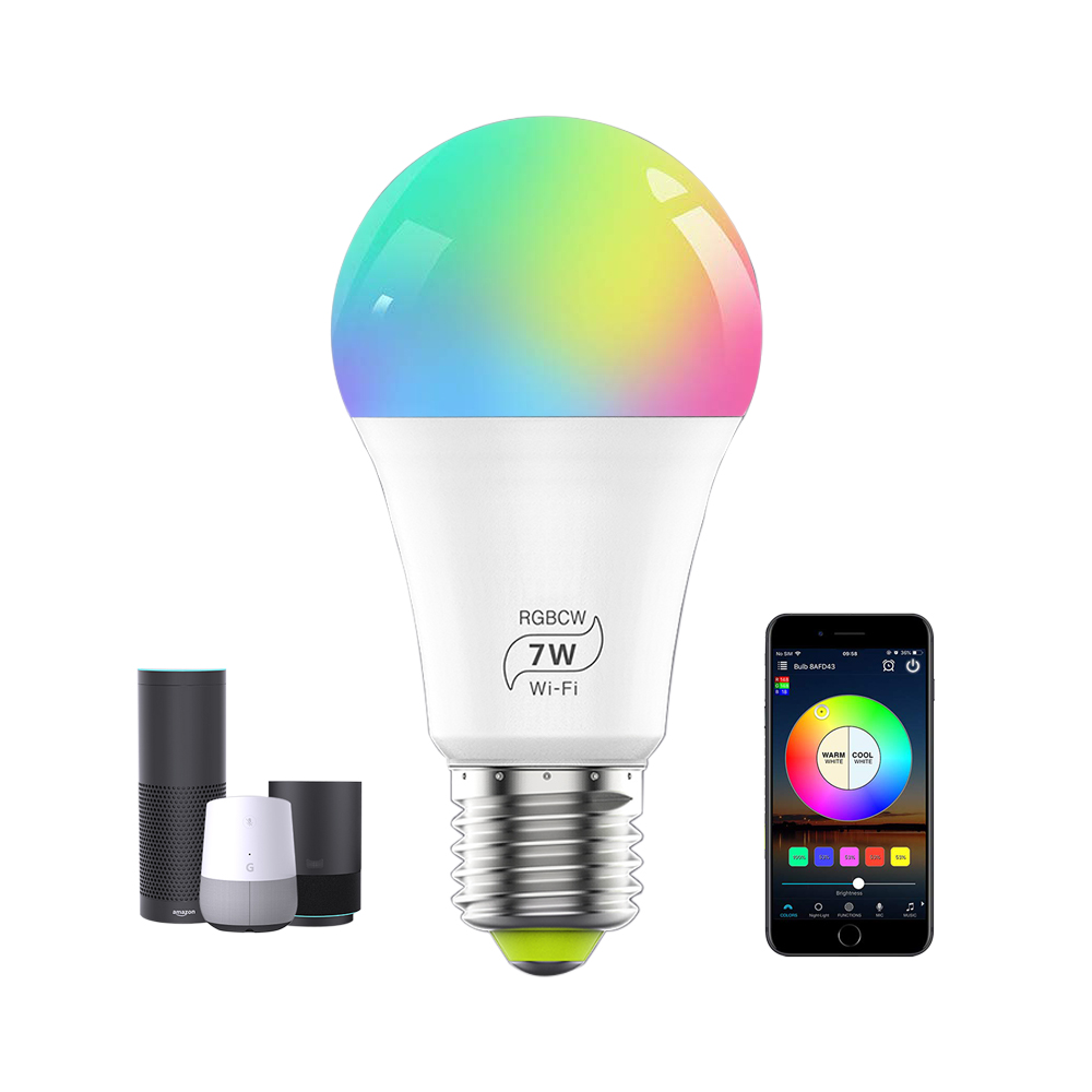 30% Discount <strong>LED</strong> <strong>Smart</strong> Light <strong>Bulb</strong>, E27 7W Multicolor Dimmable WiFi <strong>LED</strong> Light <strong>Bulb</strong> Compatible with Alexa Google Home
