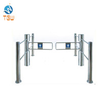 จีนทำ Swing turnstile Barrier สำหรับ Controller และ Reader Magnetic Card Gate supermarket Management