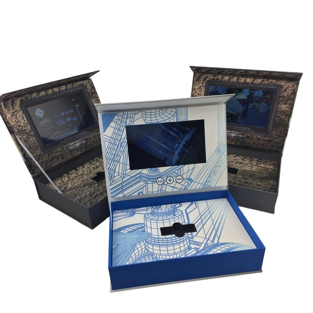 Cote Cote Caldo Imballaggio Scatole di Video Lcd biglietto di Auguri Per I Regali Di Natale