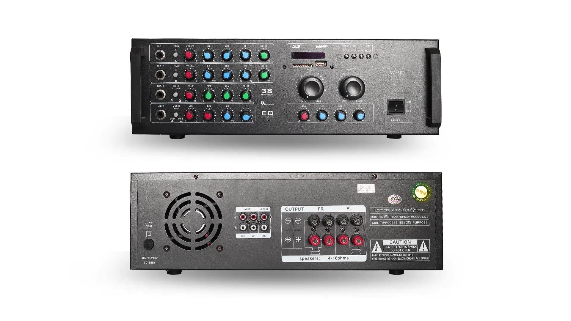 Amplifier Digital Stereo Karaoke Amplifier