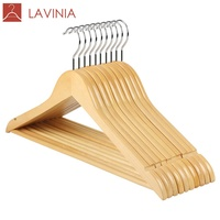 Top 1 Bestseller Low MOQ Wood Hanger Clothes,Metal Hooks Clothes Percha Cabide Wooden Cloth hanger Clothing