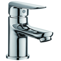 (OZ8274-1J)Boou top sale economical single lever deck mounted chromed hot and cold wash basin faucet water tap for bathroom