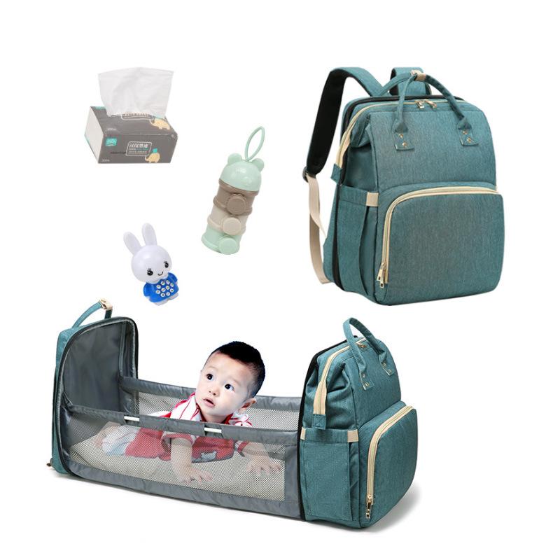 माँ बैग सो बिस्तर के साथ बहुक्रिया बेबी डायपर बैग bolsa डे panales daiper माँ baackpack यूएसबी चार्ज के साथ