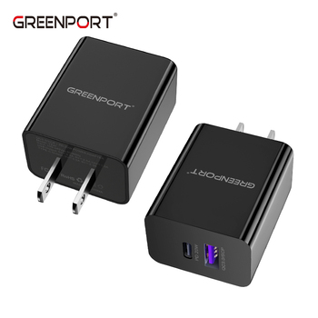 QC3.0 +PD20W (USB A+Type C) Wall Charger Factory Price Mobile Phone Tablet Laptop fast charger for phone US/UK/EU/AU