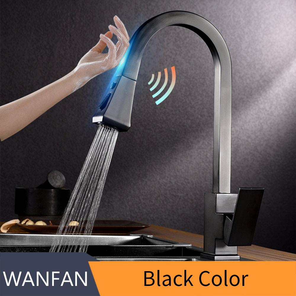 Кухонные смесители Smart Touch, кухонные смесители, вытяжной кухонный фильтр для воды, кран с двумя способами, смеситель для раковины, кухонный к...(Китай)