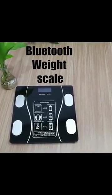 Timbangan Lemak Tubuh Pintar Kamar Mandi, Timbangan Badan dengan Kaca Tempered, Penganalisis Komposisi Tubuh Bluetooth Digital, Timbangan Lemak Tubuh Cerdas