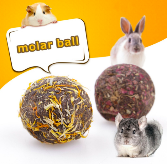Pet Feeding Flower Balls Hamsters Molars Balls Rabbit Chinchilla Snacks Pets Toys Healthy Safe Edible Treating Supplies