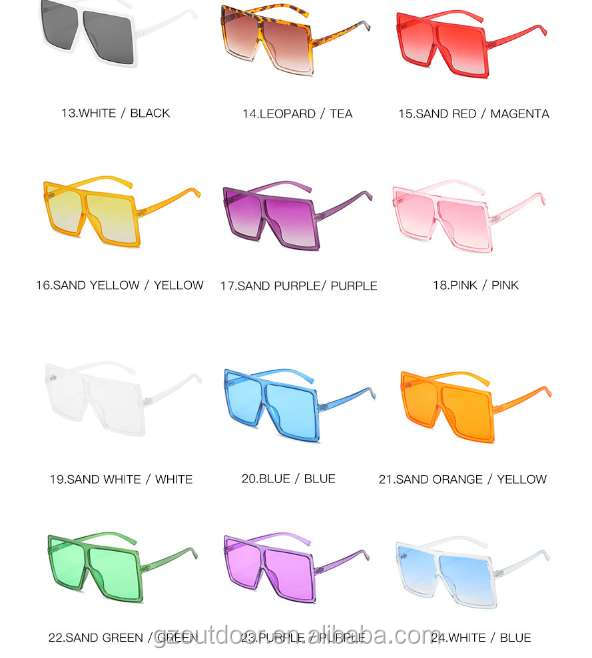 2018 2740 uv400 New sunglasses Europe Ocean slice Sunglasses Big frame glasses Trendy street shooting sunglasses for wholesales