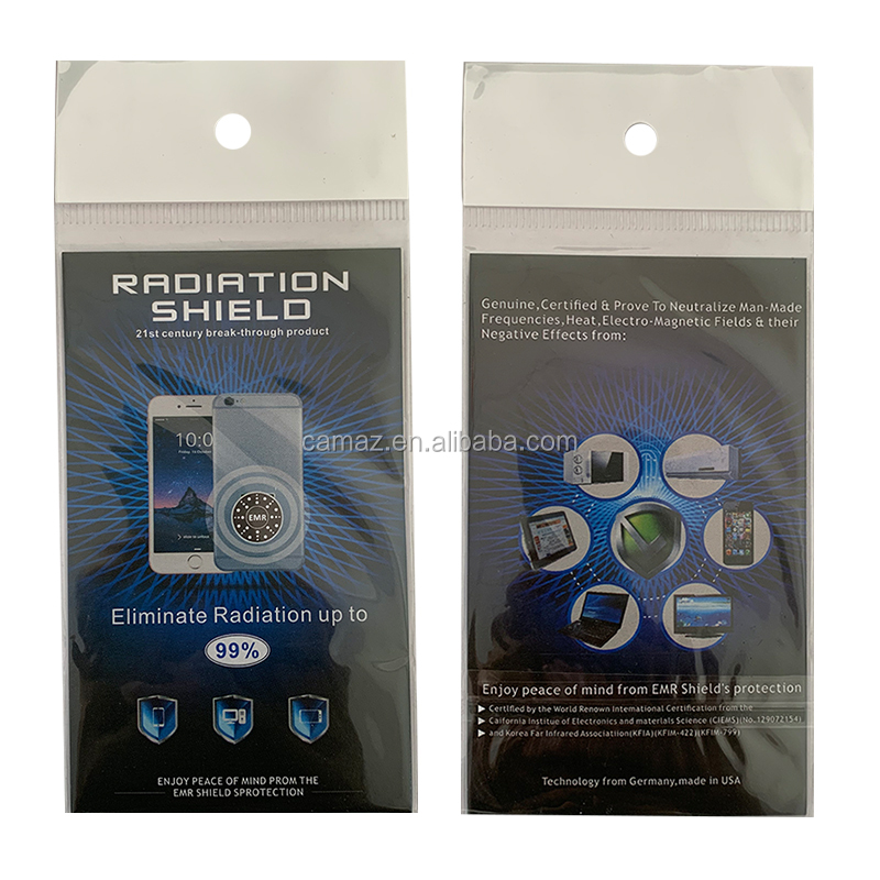 Against EMR scalar energy quantum shield for cell phone with factory price