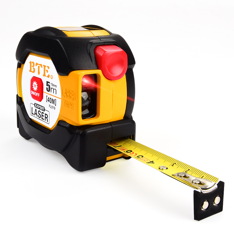 Laser Digital Tape <strong>Measure</strong> 40M Range Finder With 5M <strong>Measuring</strong> Tape LED Backlight Laser Distance Meter