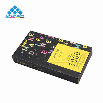 Hot sale Cheap Wholesale Power Bank Card Board Electronic Paper Box with Plastic EVA