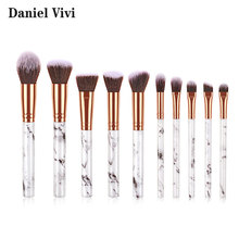 10Pcs Marmer Makeup Brush Hoge Kwaliteit Cosmetische Make Up Borstels Lage Moq Custom Logo Private Label <span class=keywords><strong>Make-Up</strong></span> <span class=keywords><strong>Borstel</strong></span> <span class=keywords><strong>Set</strong></span>