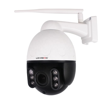 LSVISION H.265 2MP Starlight Outdoor Auto Rotate Tracking Wireless IR IP PTZ High Speed Dome Camera with Microphone Speaker