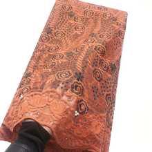 Вышитые бисером новые нигерийские кружевные ткани 5 ярдов французский Тюль Чистая свадебная кружевная ткань винный розовый последние Афри...(Китай)