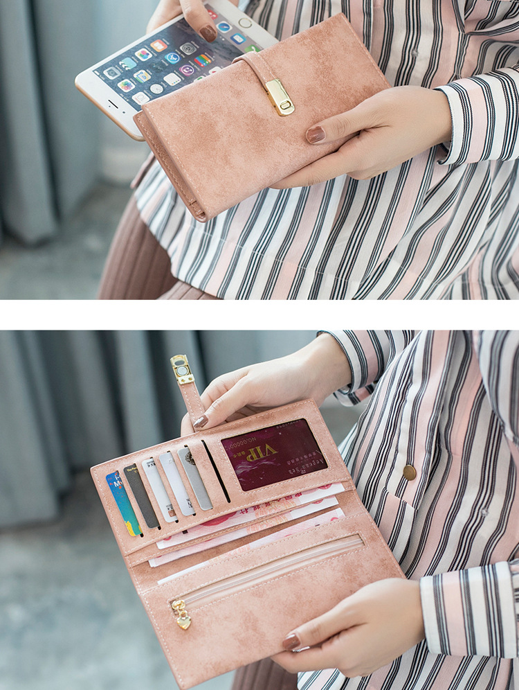 Wholesale Fashion  Leather Mobile Phone Case Long Clutch Wallet Ladies Hand Purse ready to ship Women Clutch Bag Style