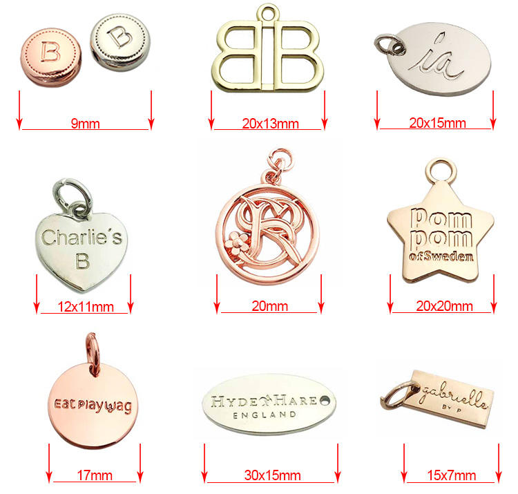 Round beads making custom silver logo engraved jewelry tag design for pendant