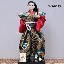 MYBLUE 30 см японский самурай каваи с мечом катана, скульптура ниндзя, японская домашняя статуэтка, украшение для дома, аксессуары(Китай)