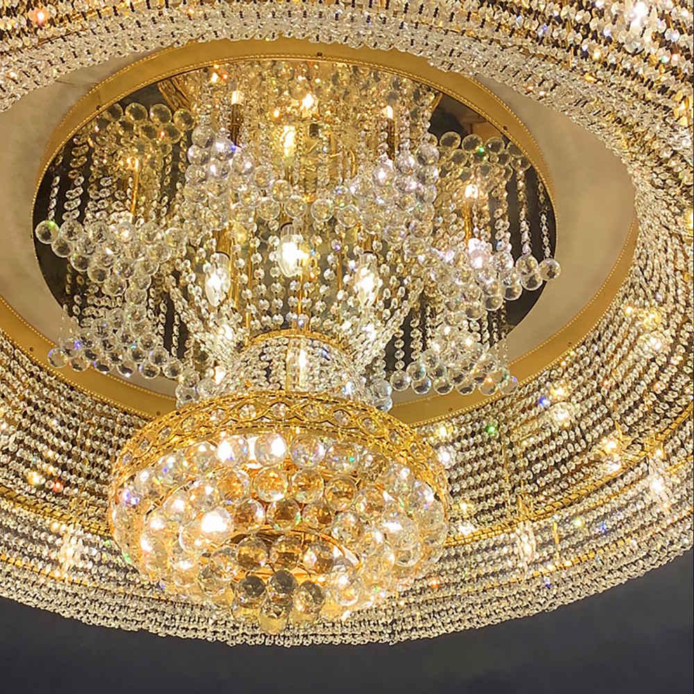 На заказ большие размеры роскошный проект хрустальная люстра для лобби большой подвесные светильники современного дизайна банкетных залов потолочные светильники