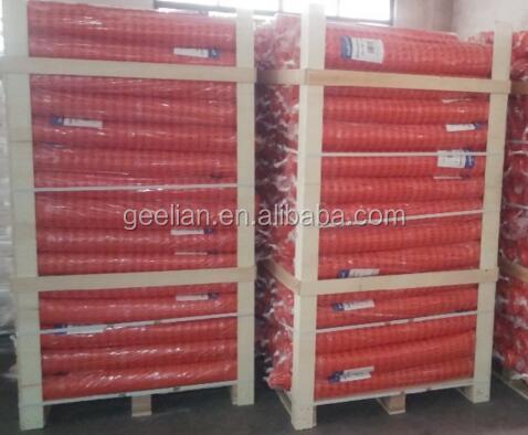Fonte Da Fábrica de construção cerca de neve padrão europeu/laranja de plástico cerca de segurança/rede de segurança de plástico Vermelho e Azul Amarelo