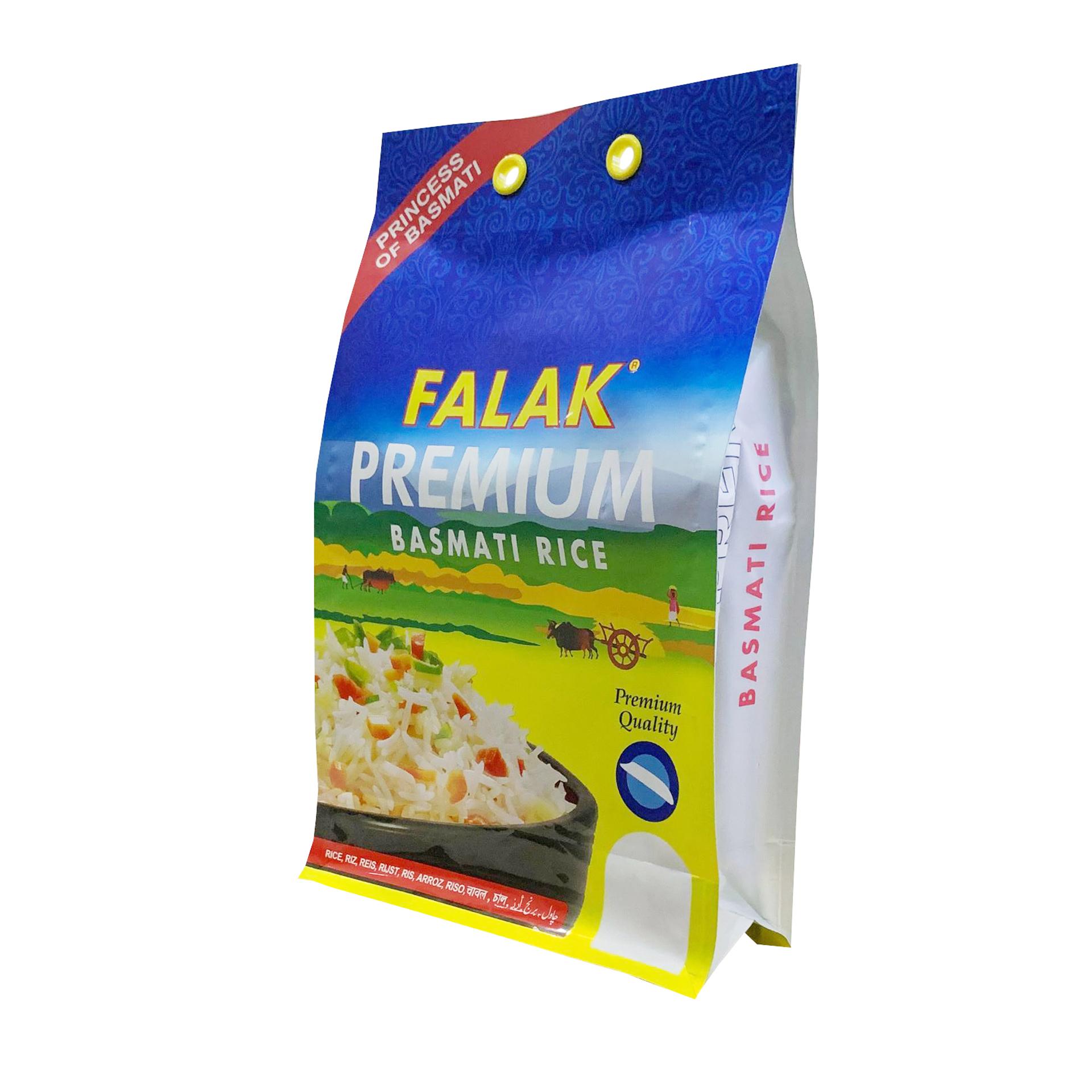 China Lieferant Großhandel Reis Kunststoff Verpackung Tasche Lebensmittel Grade 1 kg 2 kg 5 kg Reis Tasche Mit Sichtfenster